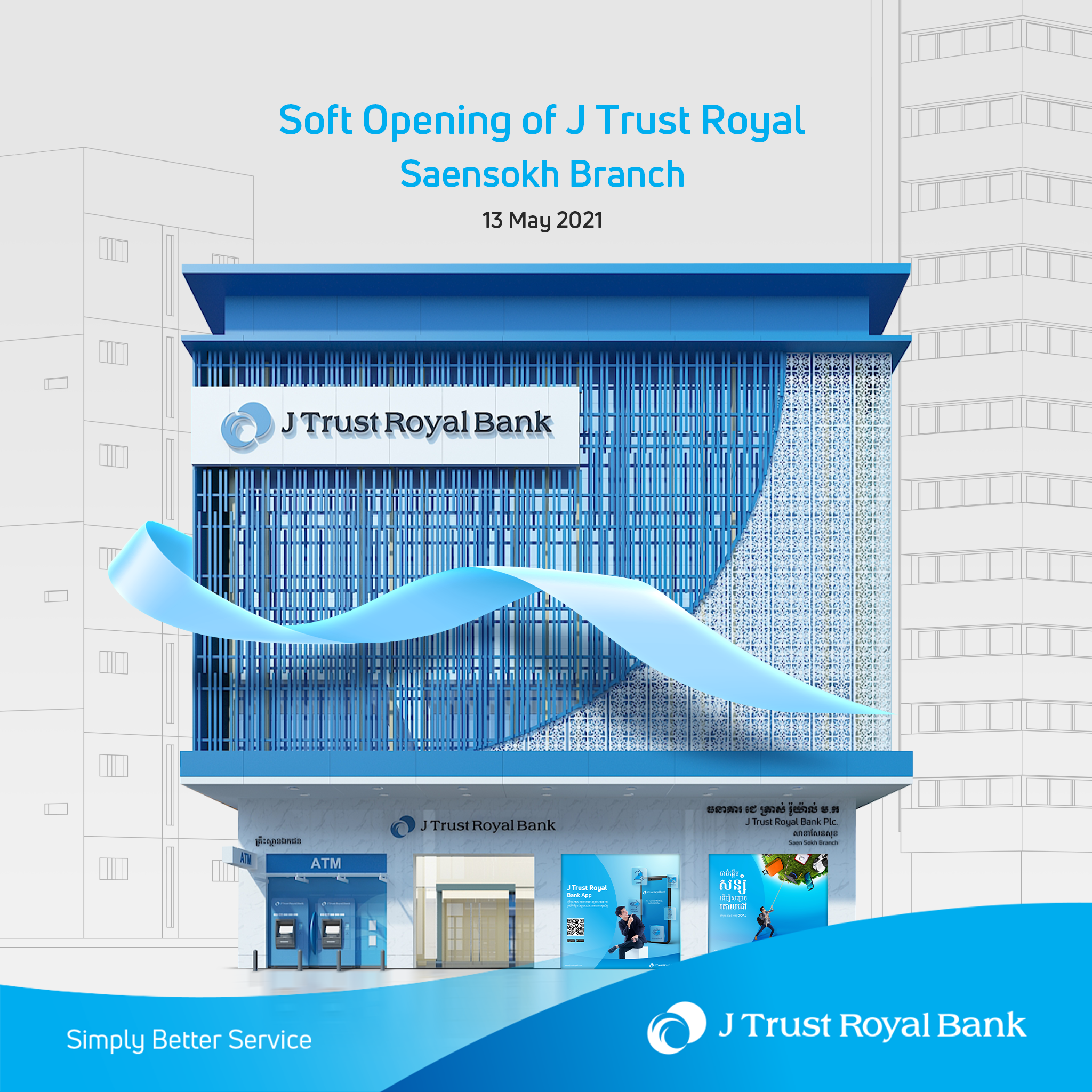 J Trust Royal Bank opens its new designed branch located at Saensokh